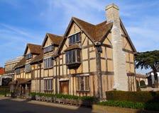 Lugar de nacimiento de los shakespeares de Stratford Imágenes de archivo libres de regalías