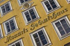 Lugar de nacimiento de Mozart Imagen de archivo
