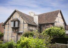 Lugar de nacimiento de Shakespeare. Foto de archivo libre de regalías