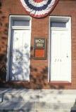 Lugar de nascimento de Babe Ruth e local de Baltimore Oriole Museum, Baltimore, DM fotos de stock
