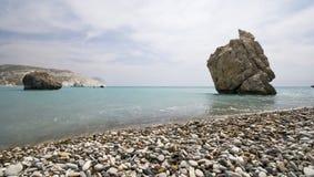 Lugar de nascimento do Aphrodite em Chipre Fotografia de Stock