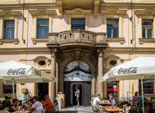 Lugar de nascimento de Franz Kafka em Praga imagens de stock