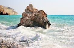 Lugar de nascimento legendário do Aphrodite em Chipre Imagens de Stock