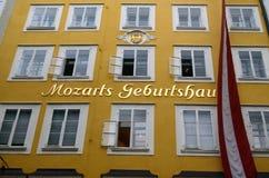 Lugar de nascimento Salzburg Tom Wurl de Mozarts imagens de stock