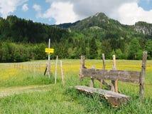 Lugar de reclinación en las montan@as Fotos de archivo libres de regalías
