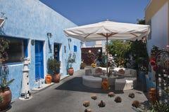 Lugar de reclinación en Santorini Imagen de archivo libre de regalías