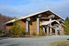 Lugar de reunión de nativos americanos en Bamfield Fotos de archivo libres de regalías