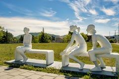 Lugar de Sainte-Adèle dos cidadãos fotos de stock royalty free
