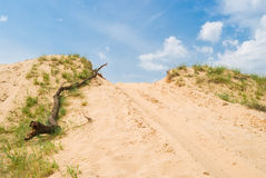 Lugar de salto-apagado de la reunión en arenas Fotos de archivo libres de regalías