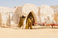 Lugar de Star Wars em Tunísia fotos de stock