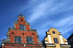 Lugar de Stortorget em Gamla stan, Éstocolmo Fotos de Stock Royalty Free