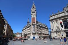 Lugar de Teatro em Lille, França Imagens de Stock Royalty Free