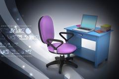 Lugar de trabajo con el ordenador Imagen de archivo