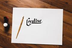Lugar de trabajo creativo del artista Inspiración del talento imagen de archivo