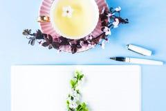 Lugar de trabajo creativo de la primavera Fotos de archivo libres de regalías