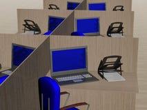 Lugar de trabajo de la oficina. imagen 3D. Imágenes de archivo libres de regalías