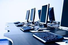 Lugar de trabajo de los ordenadores Imagen de archivo