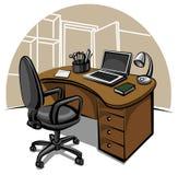 Lugar de trabajo de oficina Fotos de archivo libres de regalías