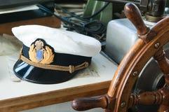 Lugar de trabajo del capitán Imagenes de archivo