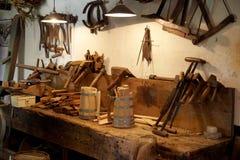Lugar de trabajo del carpintero Fotos de archivo