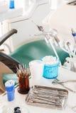 Lugar de trabajo del dentista Fotos de archivo libres de regalías