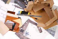 Lugar de trabajo del diseñador Imágenes de archivo libres de regalías