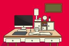 Lugar de trabajo del diseñador Foto de archivo libre de regalías