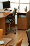 Lugar de trabajo del encargado imagenes de archivo