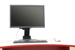 Lugar de trabajo del ordenador Imagen de archivo libre de regalías