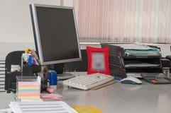Lugar de trabajo en la oficina. fotos de archivo