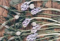 Lugar de trabajo de la floristería Fotos de archivo