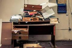 Lugar de trabajo sucio Fotos de archivo libres de regalías