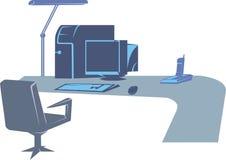 Lugar de trabalho ilustração do vetor