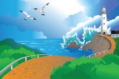 Lugar de vacaciones libre illustration