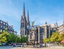Lugar de Victoire em Clermont Ferrand - França Imagens de Stock