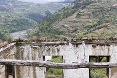 Lugar del abandono, casa abandonada Imagen de archivo