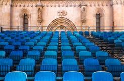 Lugar del concierto en la catedral de San Jaime Sibenik imagen de archivo