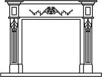 Lugar del fuego de la chimenea Imagen de archivo libre de regalías