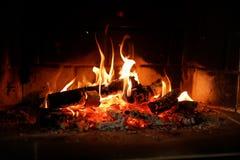 Lugar del fuego en casa Foto de archivo