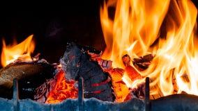 Lugar del incendio doméstico Imágenes de archivo libres de regalías