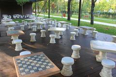 Lugar del juego del ajedrez Foto de archivo libre de regalías