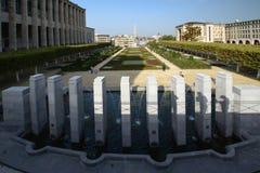 Lugar del palacio en el centro de Bruselas Foto de archivo