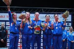 Lugar 2017 del ` s Team European de la muchacha de Nederlands tercer Imagenes de archivo
