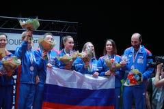 Lugar 2017 del ` s Team European de la muchacha de Rusia tercer Fotografía de archivo