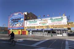 Lugar do alimento de guloseimas da barra dos moluscos do Hamburger do marisco de Nathan Imagem de Stock