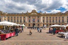 Lugar do Capitole, Toulouse, França Imagens de Stock Royalty Free