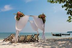 Lugar do casamento na ilha tropical Imagem de Stock Royalty Free