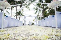 Lugar do casamento sob as árvores de coco Imagem de Stock Royalty Free