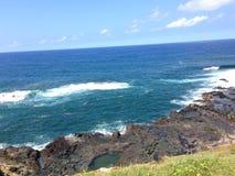 Lugar do curandeiro na ilha grande Havaí Fotos de Stock
