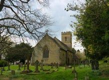 Lugar do enterro de Octavia Hill Igreja de trindade santamente, Crockham fotos de stock royalty free